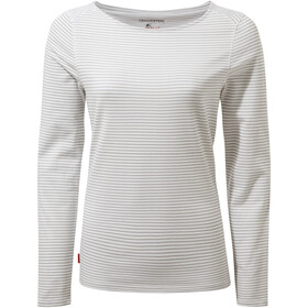 Craghoppers NosiLife Erin Long Sleeved Top Dame soft grey marl stripe